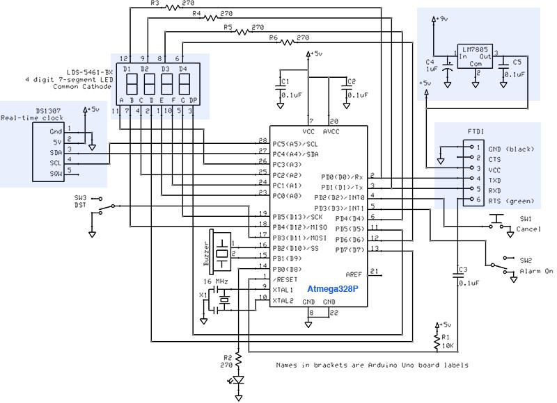 Gammon Forum   Electronics   Microprocessors   Alarm Clock
