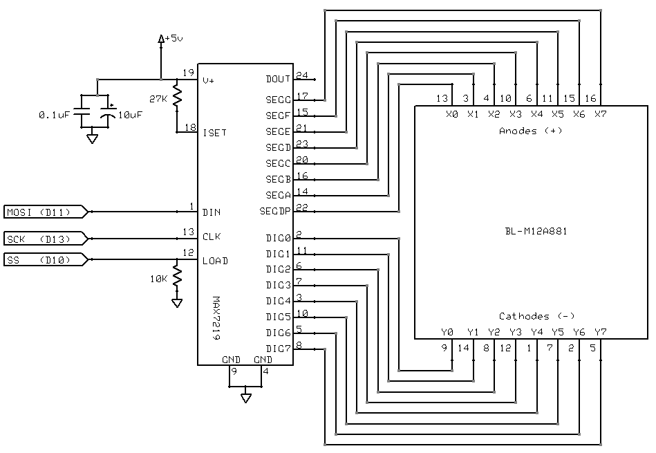 Driver Led Dot Matrix 8 X 8 Circuit Simple Schematic Diagram - Today on