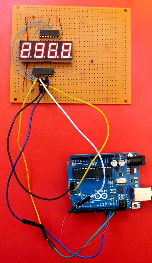 Arduino - Temperature on 4 digit 7 segment display